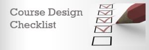CourseDesignChecklist